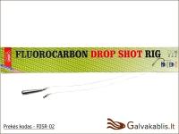 Fluorokarboninė Drop Shot sistemėlė - 0,40 mm / 9,1 kg / 10-12-2
