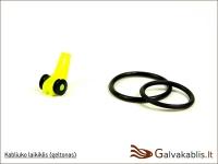 Universalus kabliuko laikiklis meškerykočiui (geltonas)