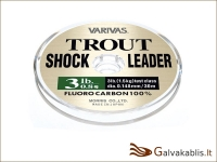 Varivas Trout Shock Leader Fluorocarbon 30 m / nuo 0.26 iki 0.33